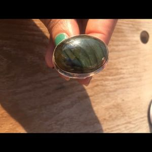 Silver Real stone ring